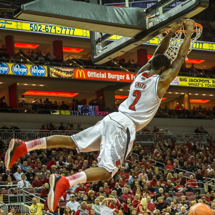 Russ Smith flies with the greatest of ease.