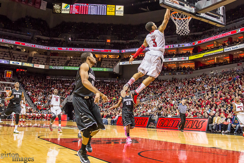 Peyton Siva dunks with authority.