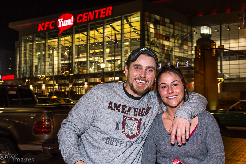John Luther and Hope Mott were among the many fans of the Zac Brown Band that came downtown to the KFC Yum! Center to see the in concert.