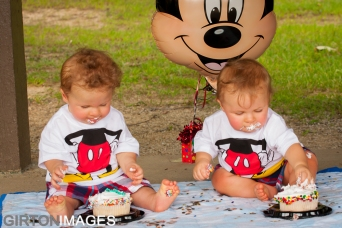 Easton and Lucas are one year old by Tim Girton