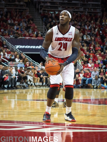 Montrezl Harrell working on free throw form.