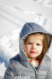 Snow Day with London and Emma by Tim Girton