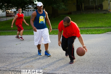 Two nephews named Michael play ball.