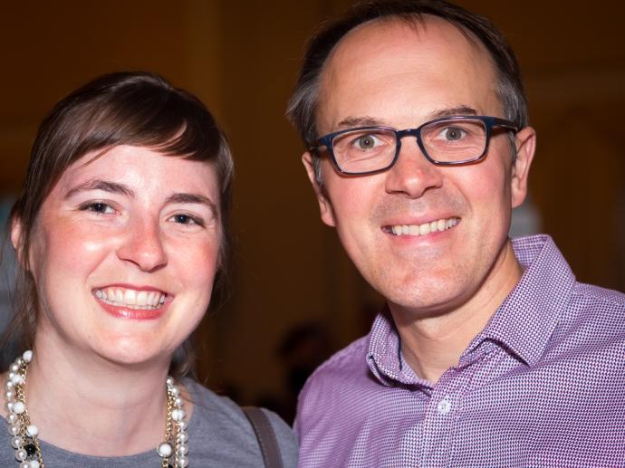 Antonia Lindauer and Tim Holman.