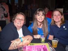 Deb Hatfield with Brandy and Jessica Chamberlain.