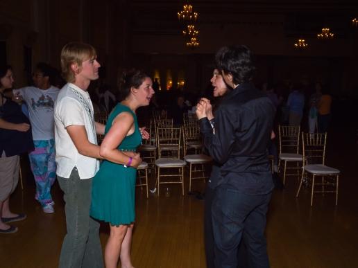 Dancing to the music of Yer Girlfriend.