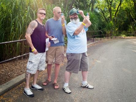 Chris Warner, Erich Winnecke and Jamie Flynn take a selfie.